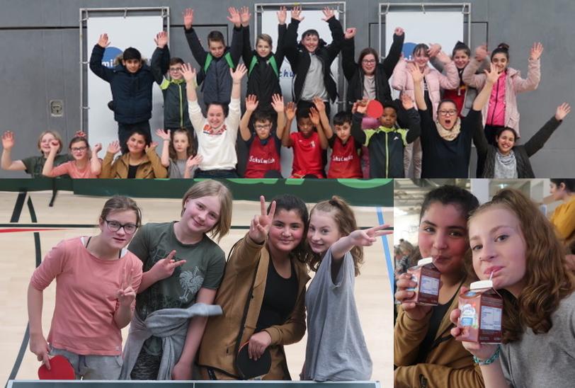 Bezirksmeisterschaften im Milchcup-Tischtennisturnier der Jahrgänge 5 und 6